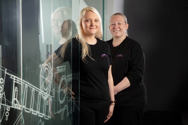 Abbie-Leigh Alderson and Samantha Lee, PFF Group.JPG
