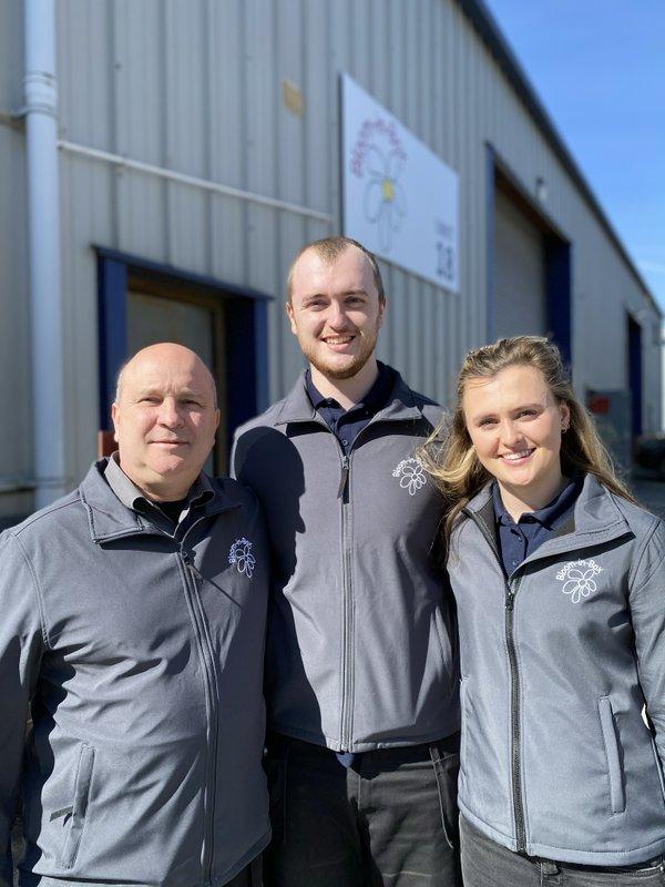 Bloom-in-Box - LtoR David Reardon, Tom Reardon and Hannah Reardon