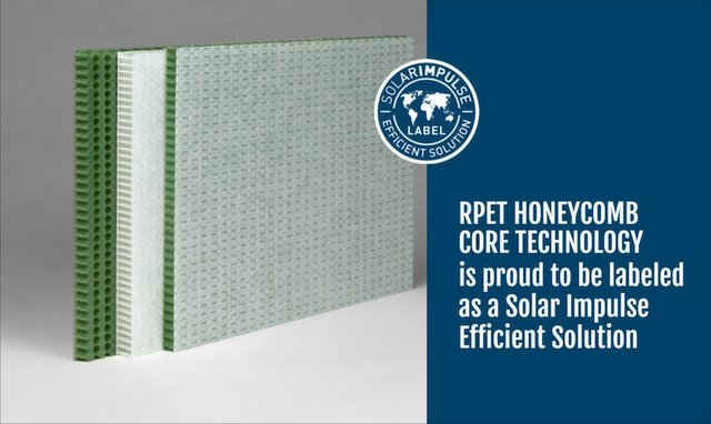 EconCore's rPET honeycomb technology accredited with Solar Impulse Label