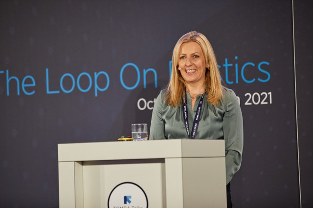 ∏TOMRA 2021_Tove Andersen, CEO of TOMRA, opening the conference day.jpg