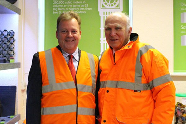 Business secretary visits Worksop recycling plant ...