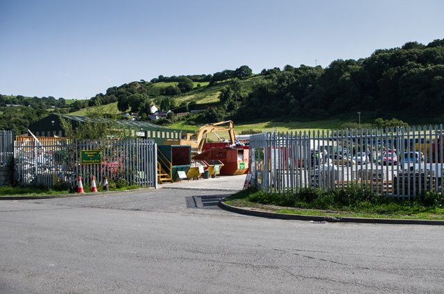 Glanyrafon Industrial Estate, Recycling point for Ceredigion Council