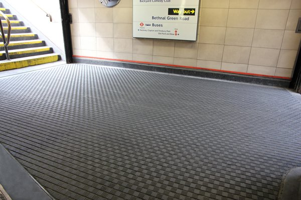 The new matting in one of London's Underground stations
