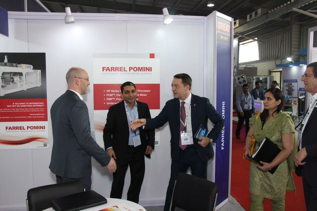 Plastindia 2018 Deputy High Commissioner for Gujarat, Geoff Wain meets Farrel POMINI (2).JPG