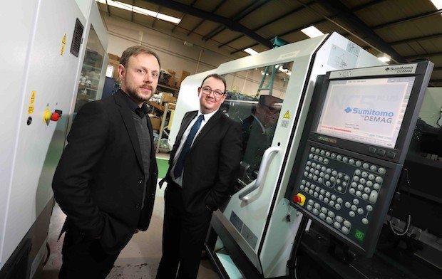 Gary Powner, Managing Director at Omega Plastics (left) with Ian Jobling....jpg