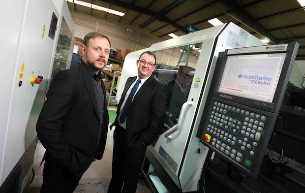 Gary Powner, Managing Director at Omega Plastics (left) with Ian Jobling....jpg