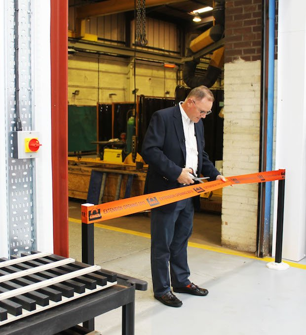 PR1809 CEO Eriez Global Manufacturing Co. Tim Shuttleworth opening the extension.jpg