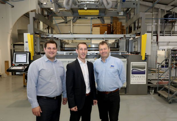 Co-Innovate Director Neil Ryan (centre) visited Donite Plastics in Saintfield to see the company's innovative vacuum forming technology. Donite is just one of the companies which has received support from the Co-Innovate Programme, supported by th...