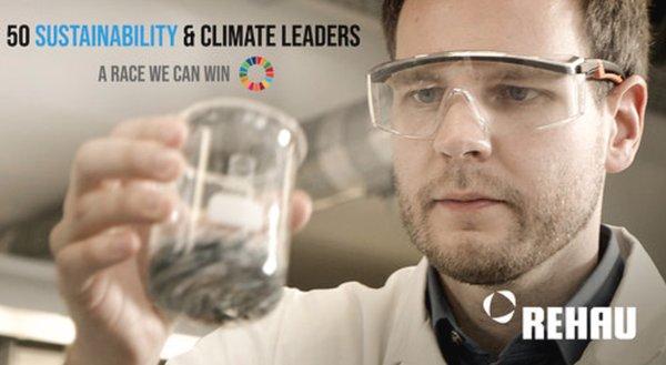 "REHAU named one of ""50 Sustainability & Climate Leaders"" worldwide"
