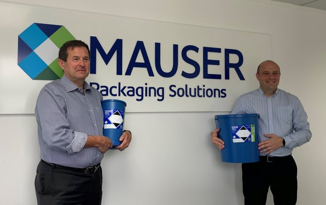 Pete Williamson {left} and Kevin Cundy {right} with Daniels Healthcare Eco Pharmi Containers.jpg