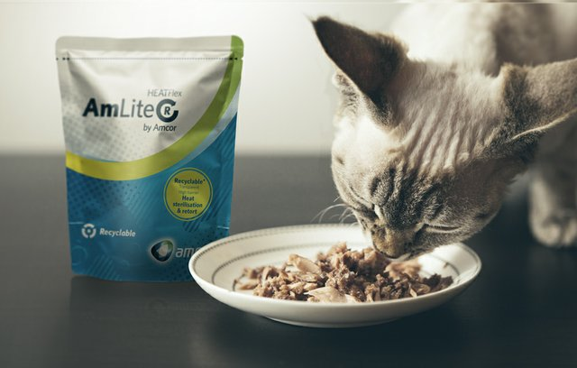 Amcor and Nestlé create world-first recyclable retort pouch for pet food